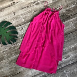 Double Zero Francesca's Pink Layered Dress Med